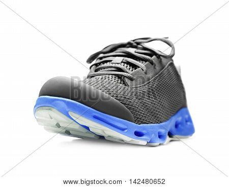 Unbranded running sneaker, shoe or trainer isolated on white.