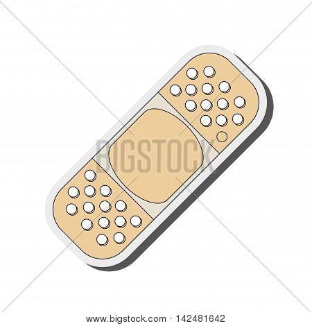 flat design adhesive bandage icon vector illustration