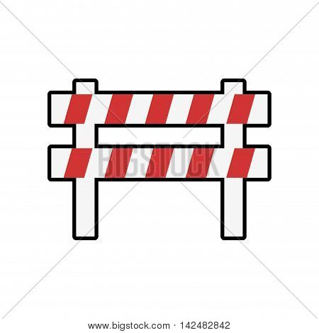 barrier industrial security safety icon. Isolated and flat illustration