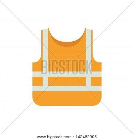 jacket industrial security safety icon. Isolated and flat illustration