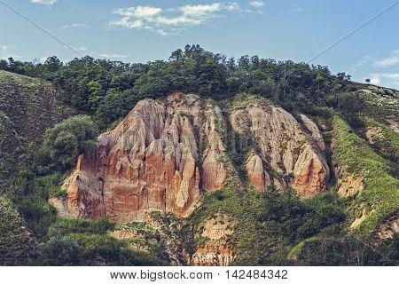Unique Reddish Sandstone Cliffs