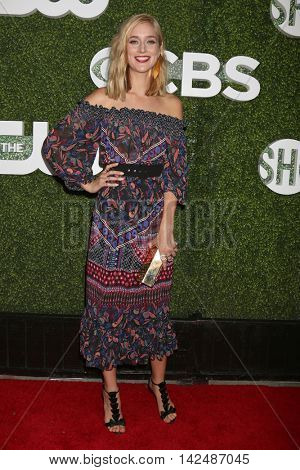LOS ANGELES - AUG 10:  Caitlin Fitzgerald at the CBS, CW, Showtime Summer 2016 TCA Party at the Pacific Design Center on August 10, 2016 in West Hollywood, CA