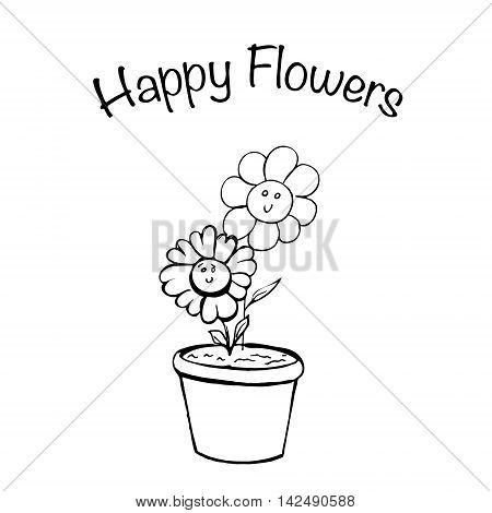 Houseplant Flowers In Pot.