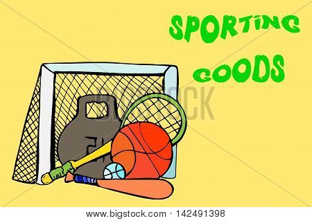 Sports Equipment. Day Of Culture And Sport.
