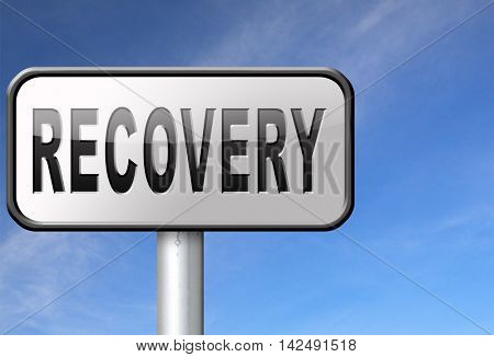 Recovery recover lost data economy recovering 3D illustration
