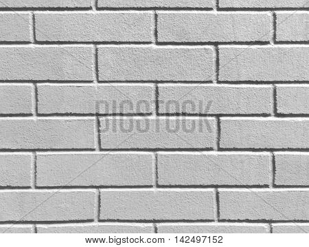 Abstract weathered texture stained old stucco gray and aged paint white brick wall background in rural room grungy rusty blocks of stonework technology color horizontal architecture wallpaper