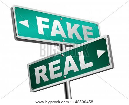 fake or real being in doubt and suspicious critical thinking possible or impossible reality check searching truth being skeptic skepticism 3D illustration