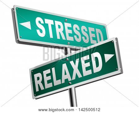stress therapy and management helps in relaxation reduce tension and relief negativity become relaxed not stressed reduction of negative vibes distressing meditation and concentration 3D illustration poster