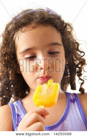 Eating Popsicle