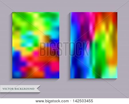 Blurred rainbow background. Layout book cover, flyers, brochures, posters. Business print template. Set  backgrounds for creative design. A4 size.