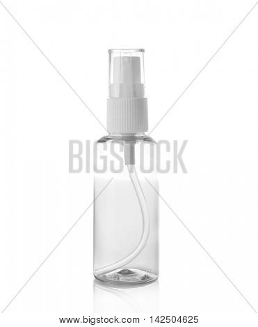 Cosmetic spray bottle isolated on white