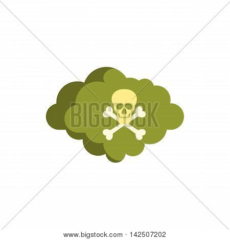 Deadly air icon in flat style isolated on white background. Danger symbol
