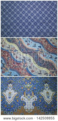 The closeup pattern texture of general traditional handmade batic in Bali stile