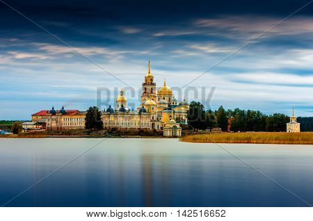Nilov Monastery is situated on Stolobny Island in Lake Seliger Tver region Russia.