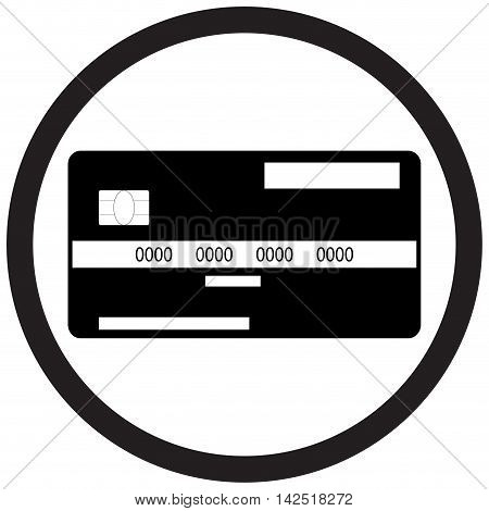 Credit card flat icon monochrome. Financial debit card and vector banking card with money illustration of plastic credit card isolated