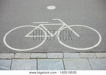 Separate Bicycle Lane Sign In Park