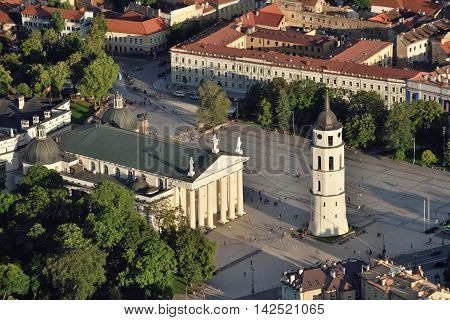 The Cathedral Square in Vilnius is the main square of the Vilnius Old Town Vilnius city is capital of Lithuania