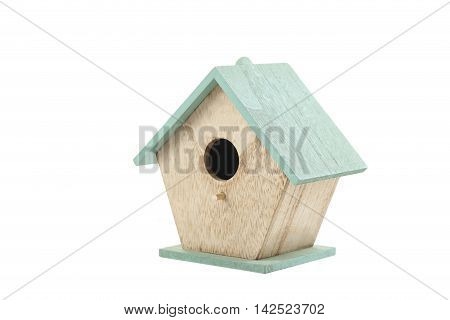 Nesting box isolated on a white, close up
