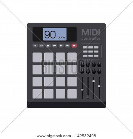 Vector Illustration of a Modern MIDI Controller