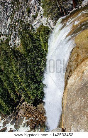 Yosemite Cliff Waterfall