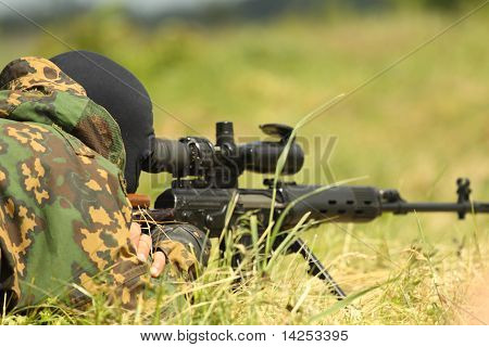 The military sniper