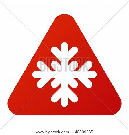 Attention snowflake icon danger button and attention warning sign. Attention security alarm symbol. Danger warning attention sign with symbol information and notification icon vector