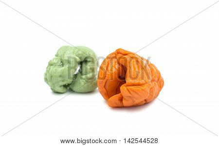 chewing gum candy on a white background