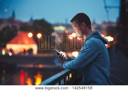 Alone With Mobile Phone