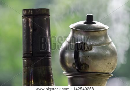 Traditional old stytle  turkish tea urn (samovar)