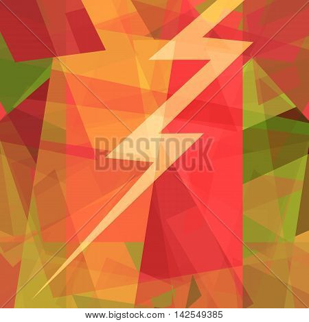 Thunderstruck, abstract art background with thunder bolt