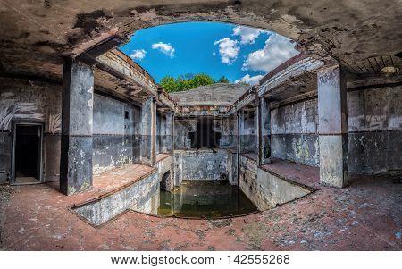 View of the Object 100 previously secret military facility near Balaklava Crimea