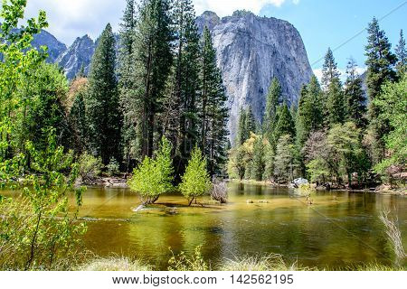 Yosemite Mountain And River