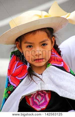 Lima, Peru-january 31: Unidentified Girl Performs During Festival Of The Virgin De La Candelaria On