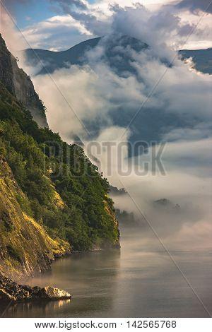 Fantastic Scenery Of Scandinavian Mountains, Flam, Norway