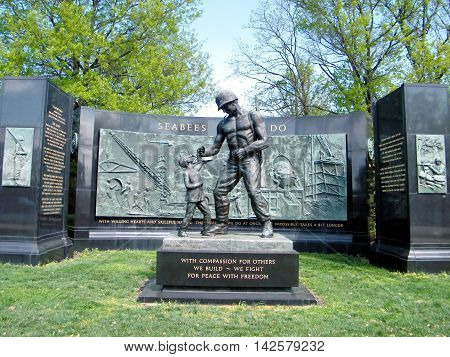 The National Seabee Memorial in Arlington National Cemetery Arlington Virginia USA