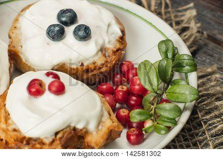 Berry Cookies Closeup
