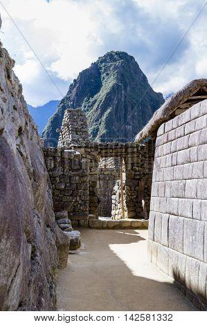 Inca Doorways In Machu Pichu
