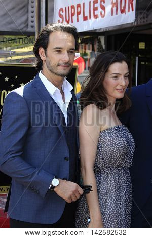 LOS ANGELES - AUG 11: Rodrigo Santoro, Ayelet Zurer at a ceremony where Roma Downey is honored with a star on the Hollywood Walk of Fame on August 11, 2016 in Los Angeles, California