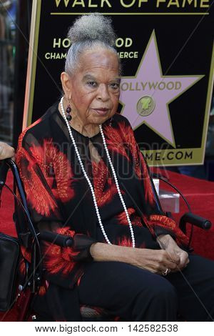 LOS ANGELES - AUG 11: Della Reese at a ceremony where Roma Downey is honored with a star on the Hollywood Walk of Fame on August 11, 2016 in Los Angeles, California