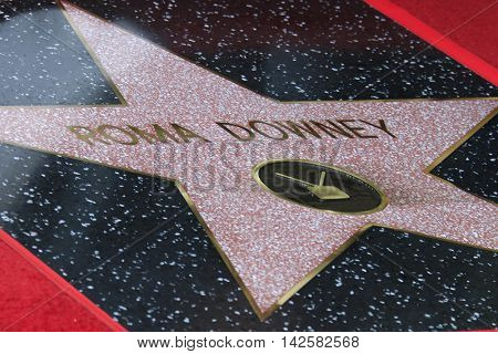 LOS ANGELES - AUG 11: Roma Downey star at a ceremony where Roma Downey is honored with a star on the Hollywood Walk of Fame on August 11, 2016 in Los Angeles, California