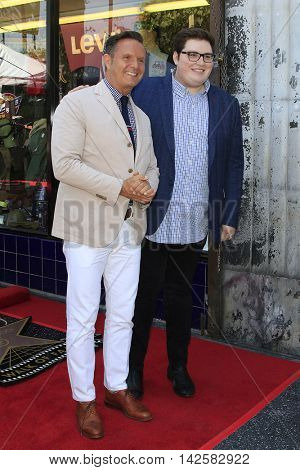 LOS ANGELES - AUG 11: Mark Burnett, Jordan Smith at a ceremony where Roma Downey is honored with a star on the Hollywood Walk of Fame on August 11, 2016 in Los Angeles, California