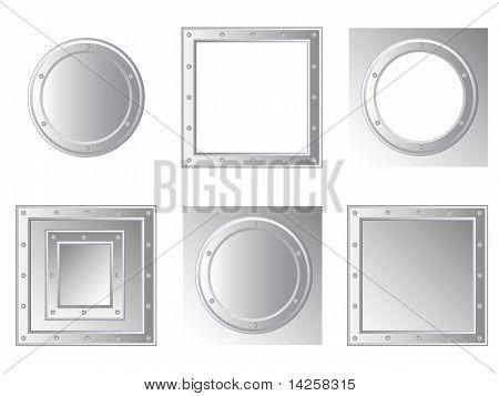 Set-of-metallic-frames