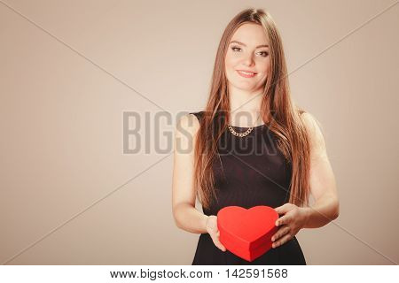 Cute Girl With Heart