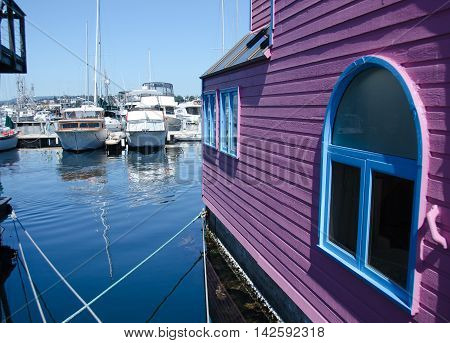 Summer Colors In Float Home Village, Victoria - 5