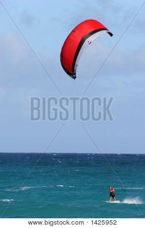 Lone Kitesurfer