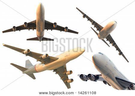 aeroplanes on white