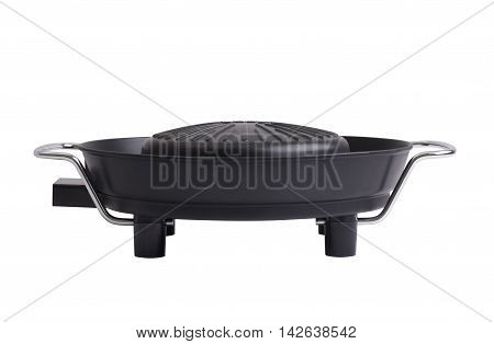 non stick electric grill stove isolated on white background