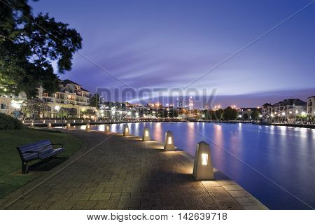 Claisebrook Cove in East Perth, Western Australia