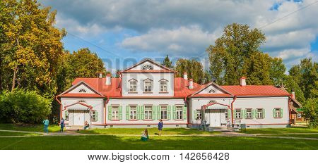 Abramtsevo manor house in Moscow region. Its owners were writer Aksakov, industrialist Mamontov. After 1917, manor was nationalized and turned into museum. Russia, Moscow region, Abramtsevo. September 6, 2014