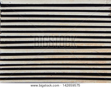 Metal grill texture for construction and windows